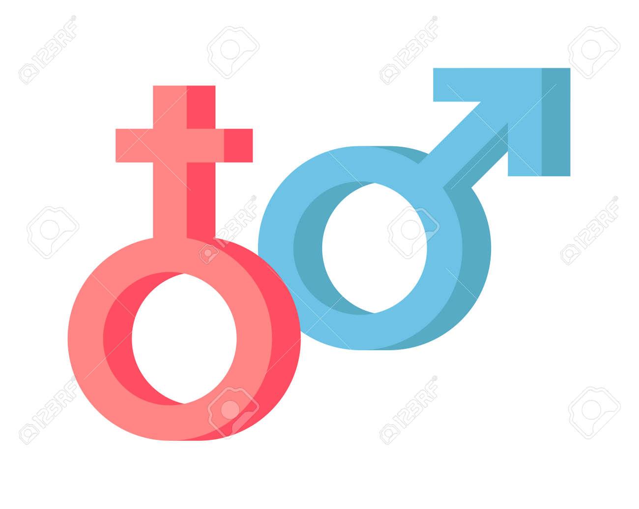 Male And Female Symbols Vector Combination Male And Female Sex