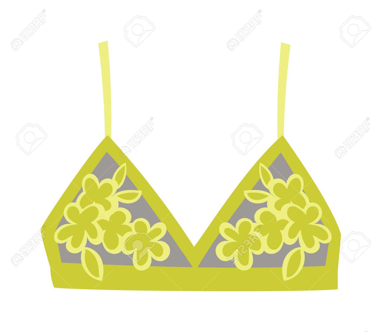 c3de09a39c01a Mode rose soutien-gorge sur fond blanc. Vector soutien-gorge lingerie  sous-vêtements de mode vêtements. Brassiere vêtements femmes sein ...