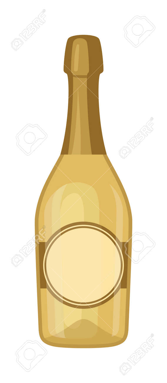 champagne bottle and champagne glass vector illustration alcohol celebration wine isolated champagne bottle holiday