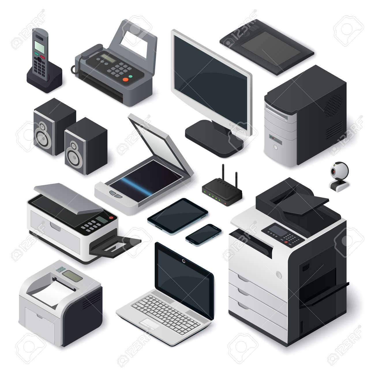 Matriel De Bureau Imprimante Isomtrique Inter Papier Style De