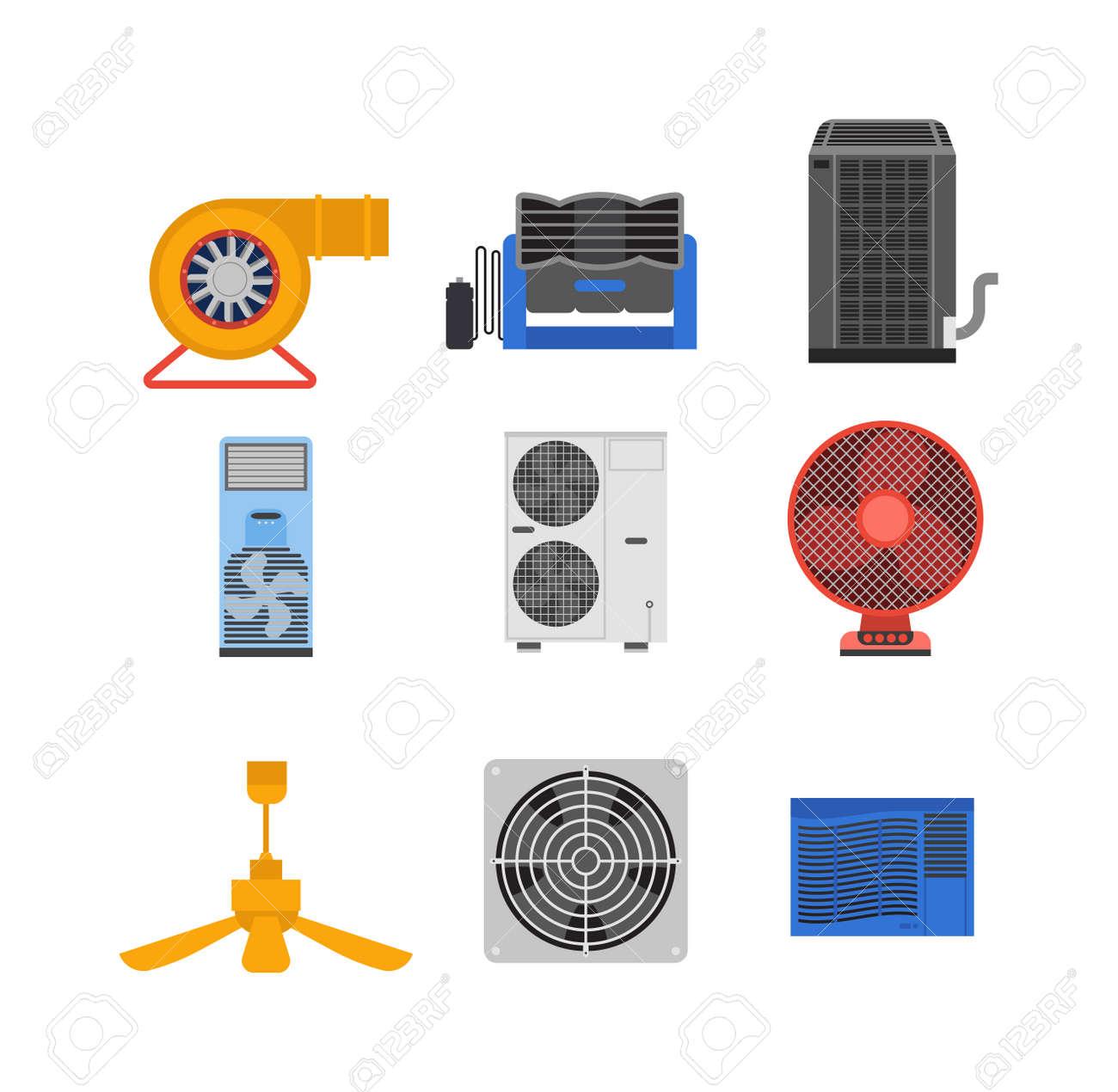 Klimaanlage Auf Gebäude Montiert. Ausstattung Des Hauses Kalt ...