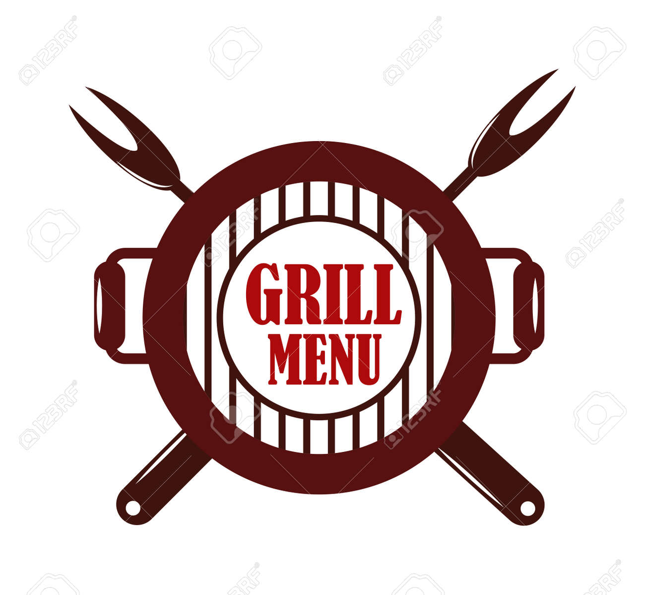 Barbecue And Grill Labels Set Badge And Emblem Bbq Logo Vector