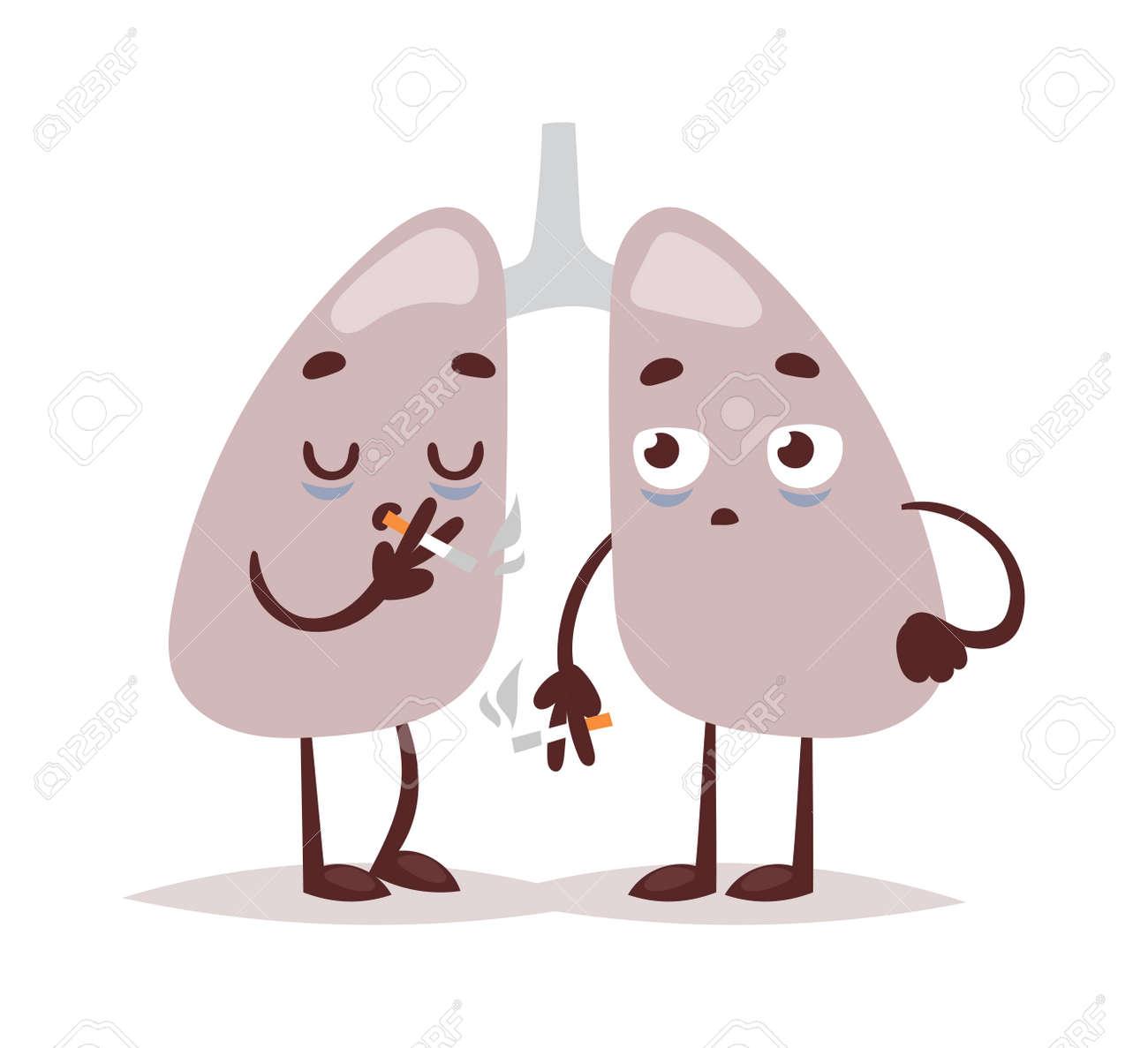Pulmones Fumador Sistema Respiratorio. Hábitos De Pulmón Cáncer De ...