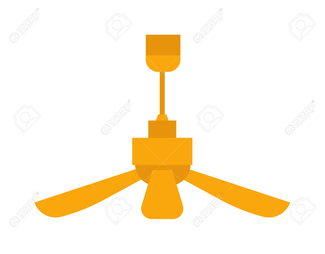 ceiling fan vector. electric room ceiling fan vector. climate blower appliance office ventilator fan. circulation interior vector a