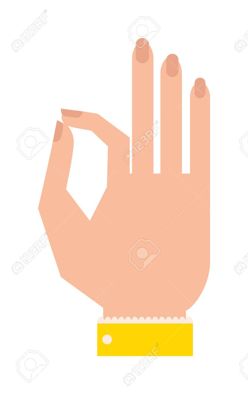 Okey Hand Symbol, Ok Hand Ja Vereinbarung. Ok Handzeichen Geschäfts ...