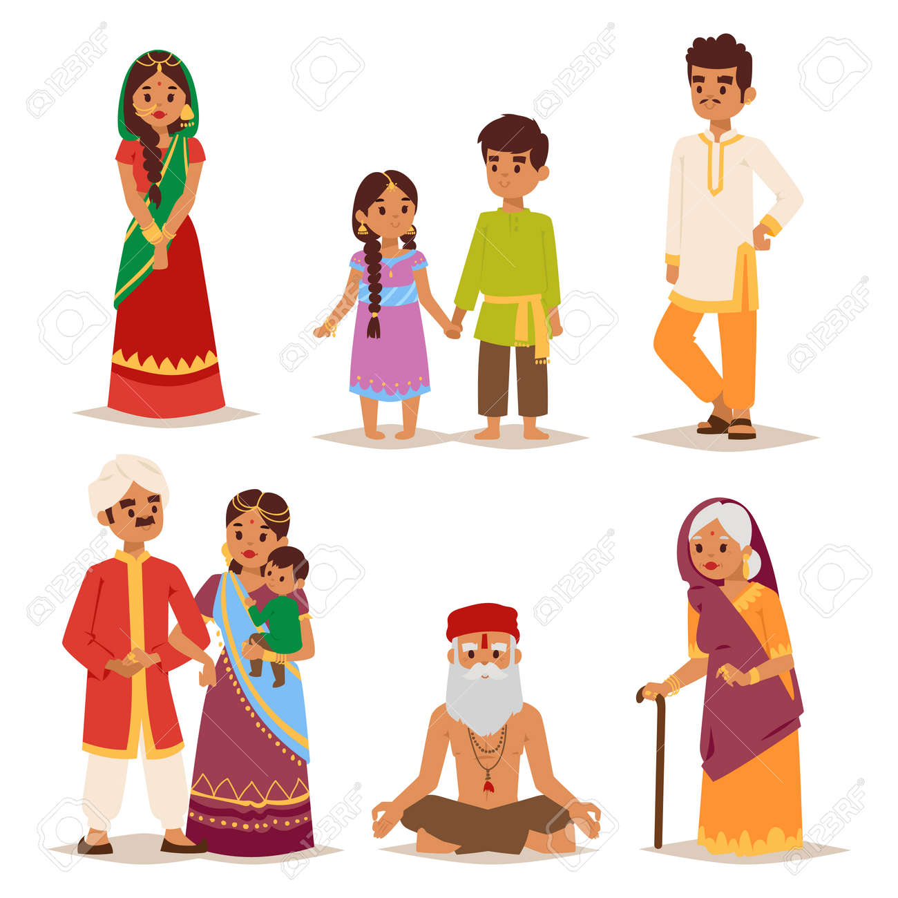 03a17aea46 Vector - Vector illustration of Indian couple of different culture standing  together. Indian people female happy person. Ethnicity cheerful casual  Indian ...