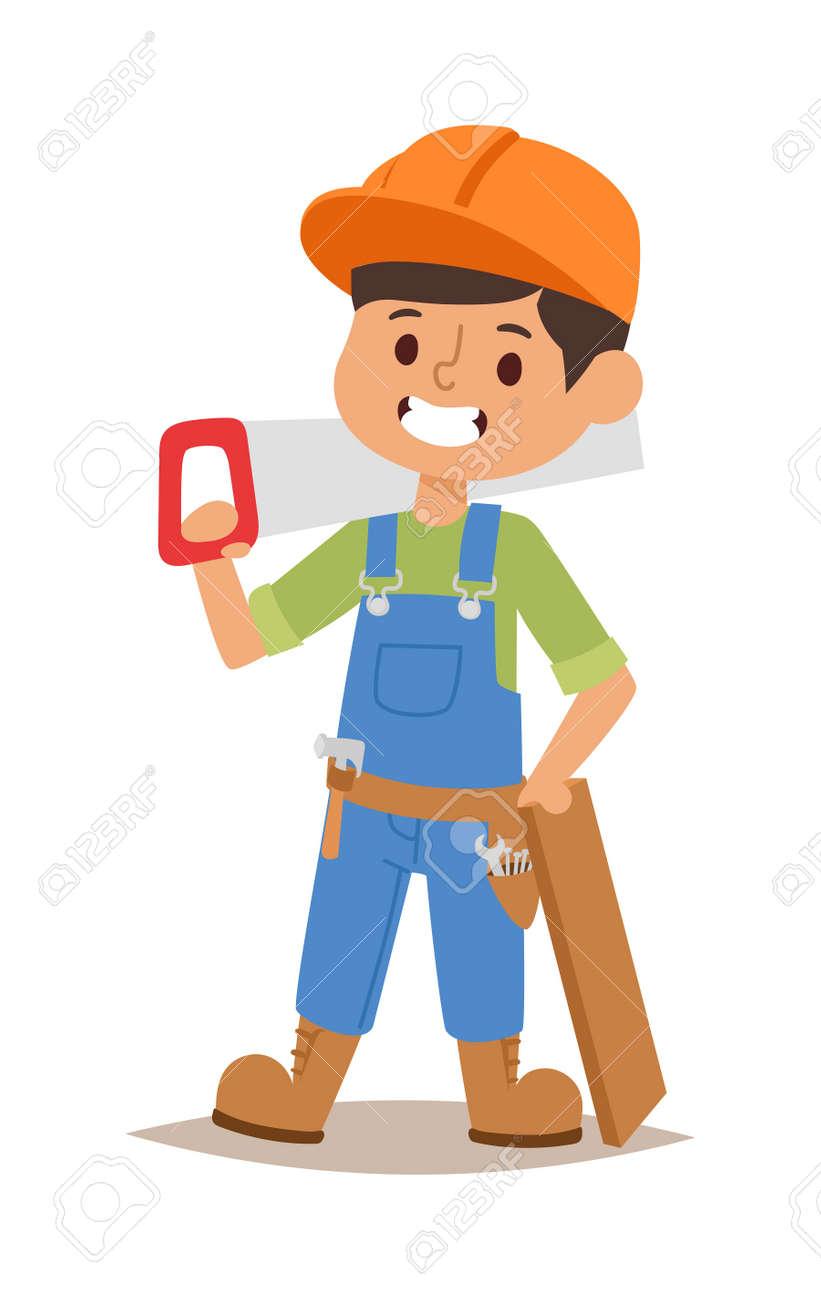 builders kids carpenter builder with tools vector character rh 123rf com vektor builders international