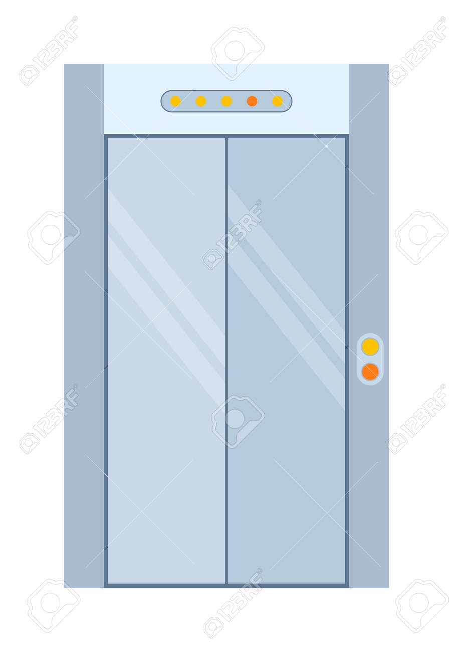 open front door illustration. Contemporary Door Color Lift Door Isolated On White Colorful Front To House And  Building In Flat Inside Open Front Door Illustration