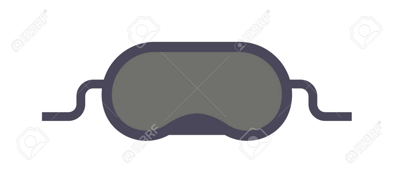 06dfdc05c38 Sleeping mask and sleep mask isolated on white background. Vector  illustration sleep mask and black