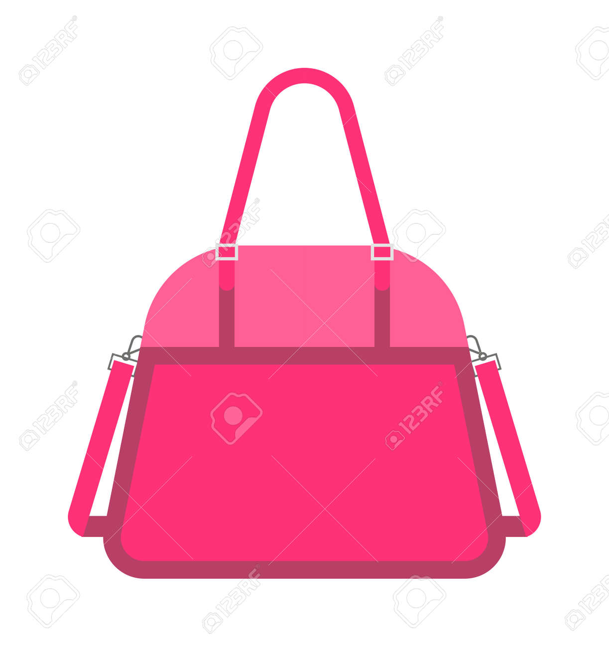 pas cher pour réduction caractéristiques exceptionnelles couleur n brillante Vecteur de sac à main femme fashion rose. Glamour accessoire sac à main  pochette rose et élégance moderne rose embrayage. Style d'embrayage rose ...