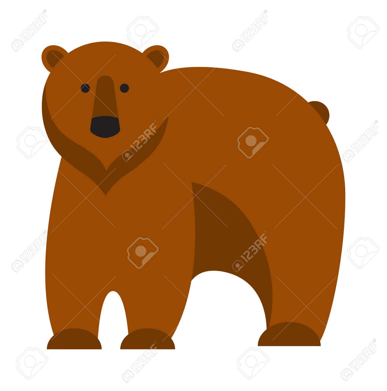 楽しい動物園漫画クマと漫画イラストを負担します。茶色のクマのかわいい