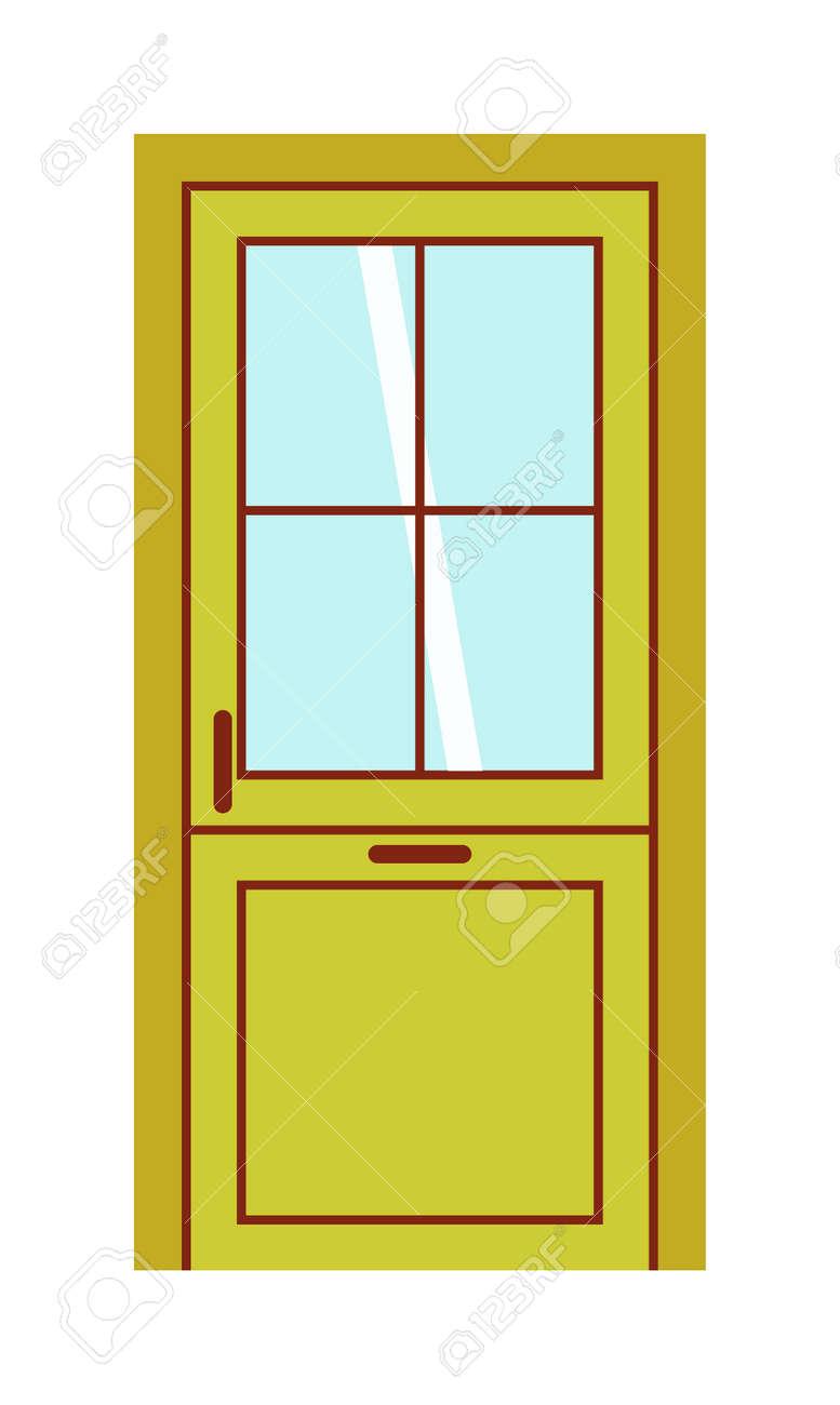 Sehr Farbe Tür Isoliert Auf Weiß. Bunte Haustür Zu Haus Und Gebäude Im PE35