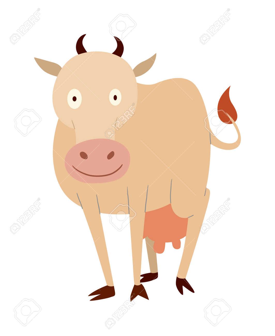 Vache A Lait De Personnage De Dessin Anime Taureau De Buffle