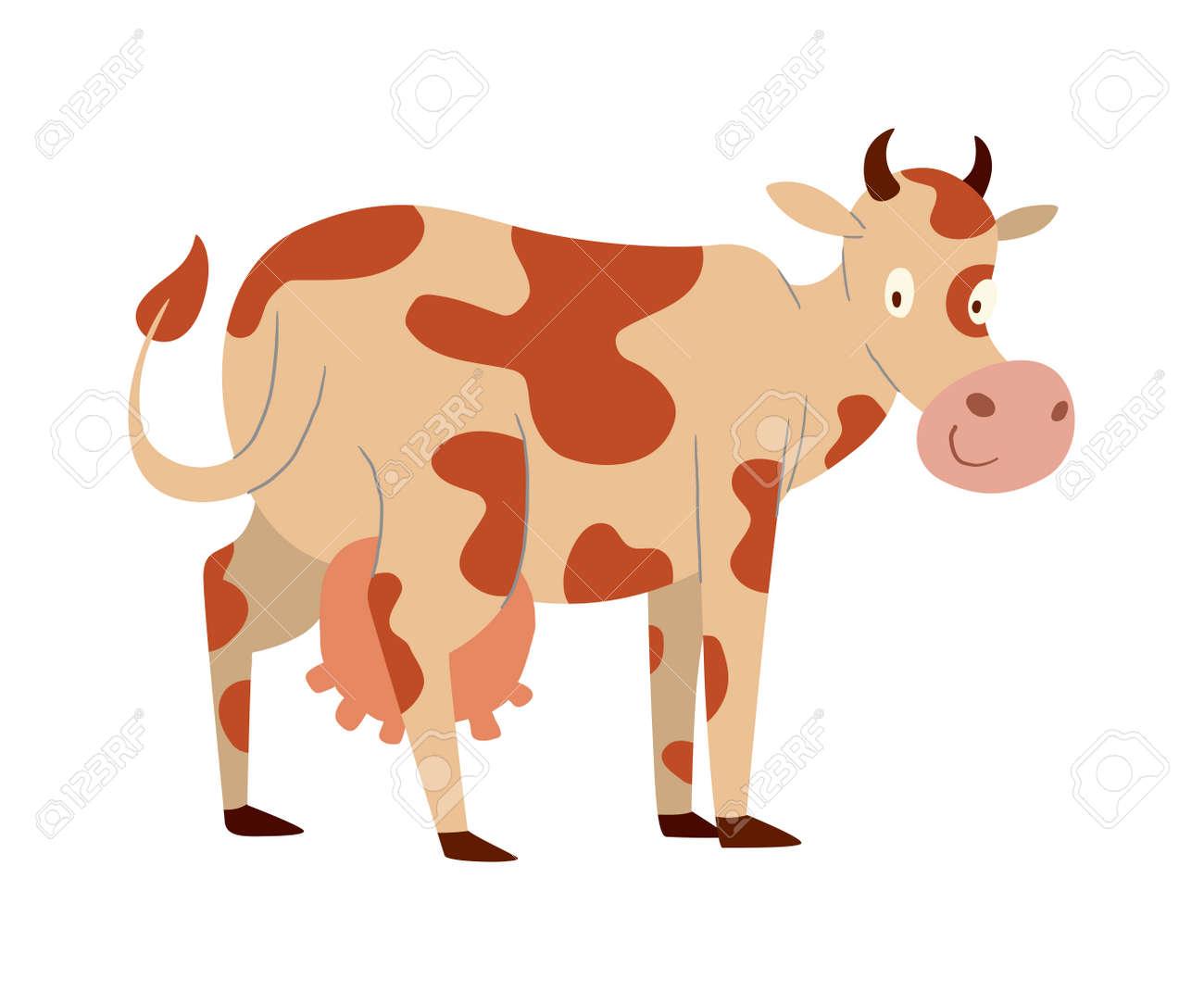 Vache à Lait De Personnage De Dessin Animé Taureau De Buffle