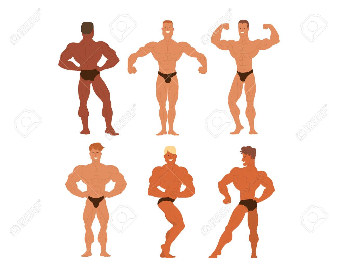 「筋肉 ポーズ イラスト」の画像検索結果