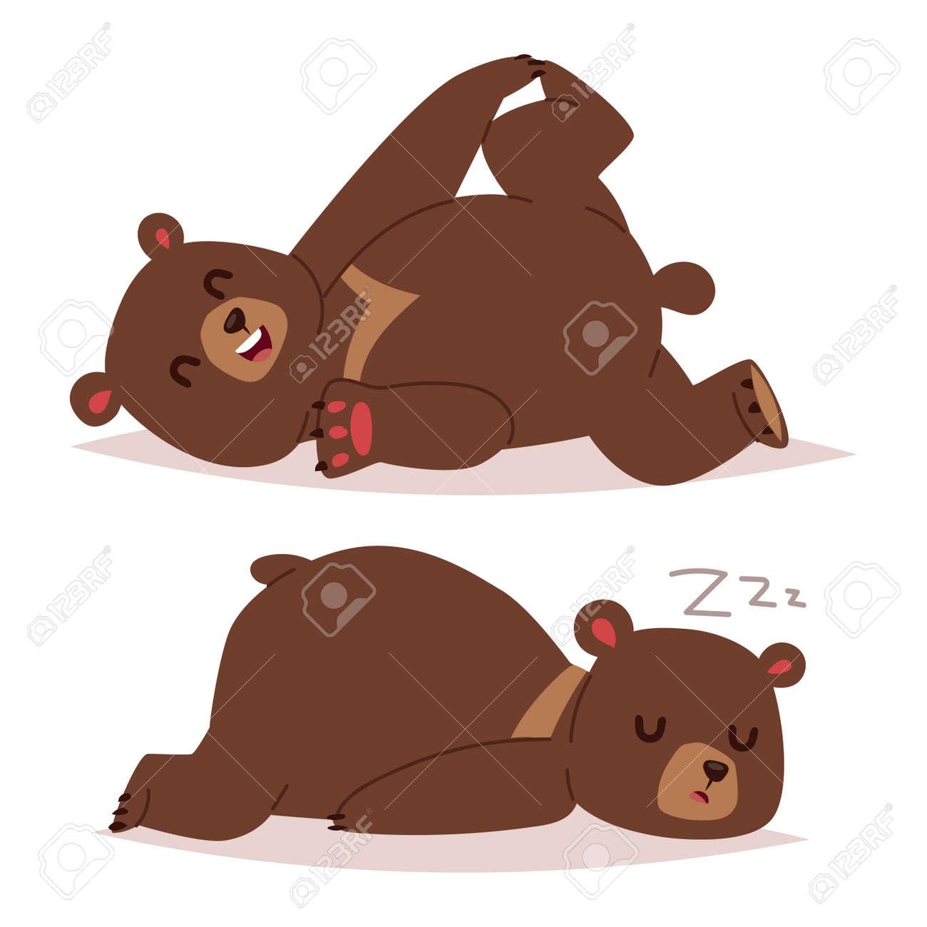 Vettoriale collezione di cartone animato orso emozioni icona