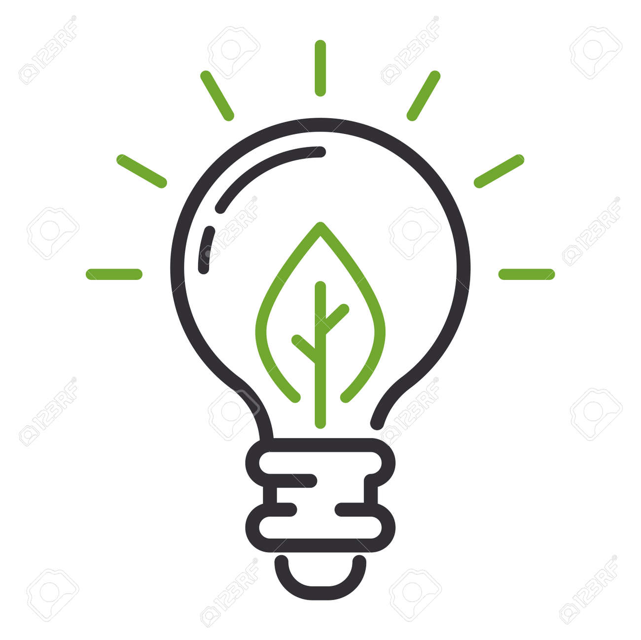 Vector Öko-Energie-Symbol-Zeichen. Energie Symbol Energie Umwelt ...