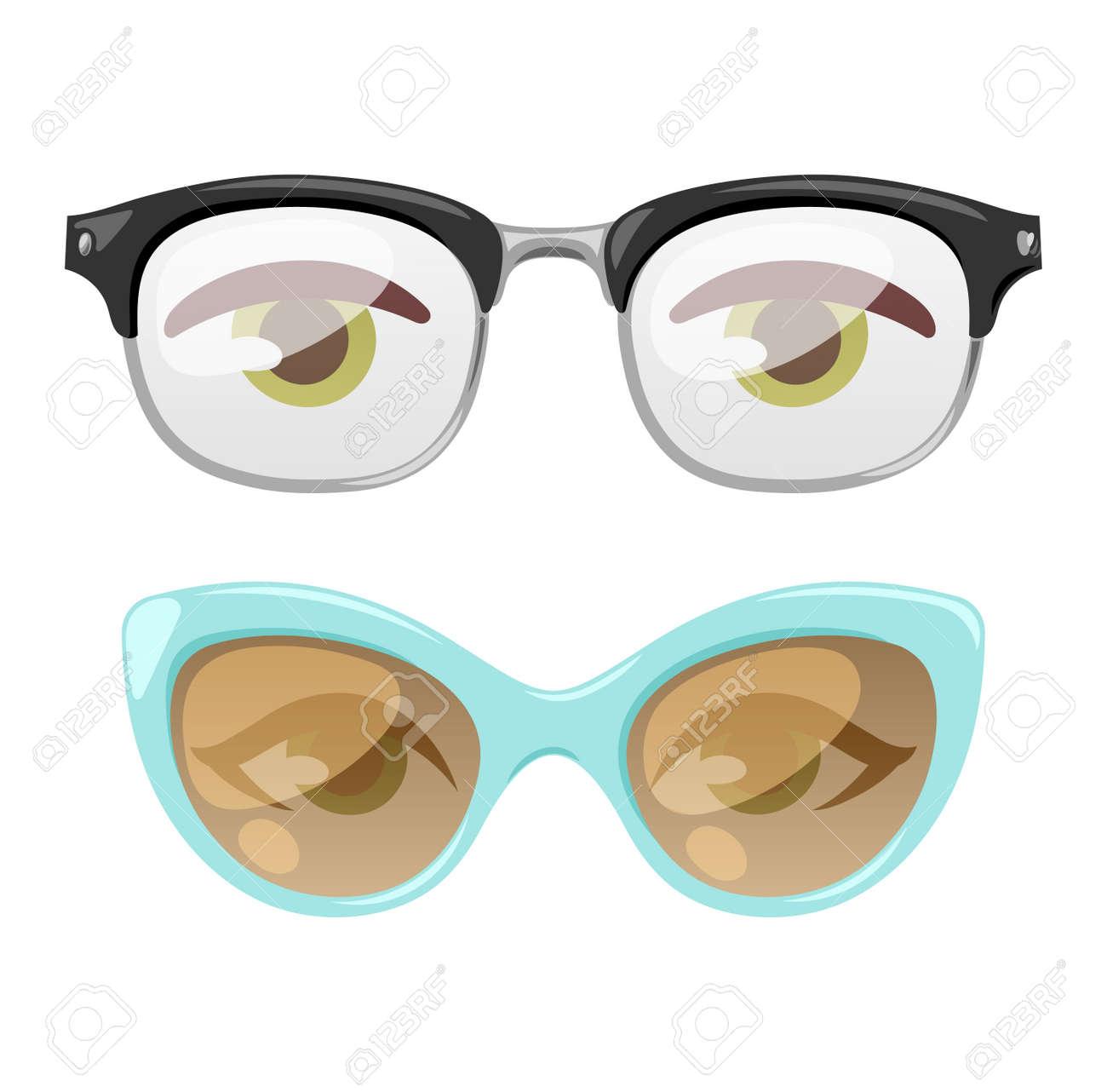 Lesebrillen Menschliche Auge Sehkraft Ausrüstung. Brille Menschliche ...