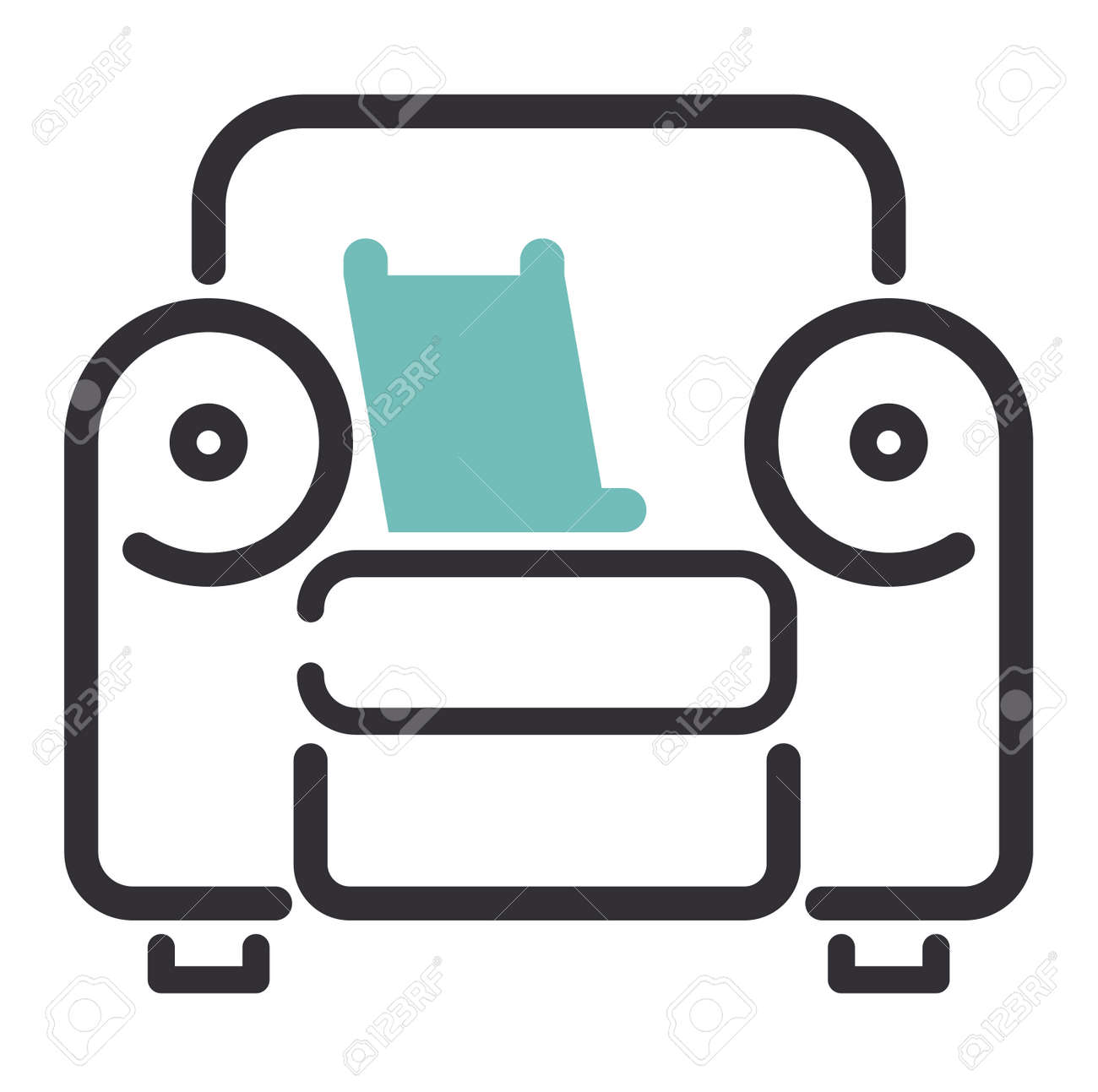 Furniture and home decor icon vector illustration. Indoor cabinet..