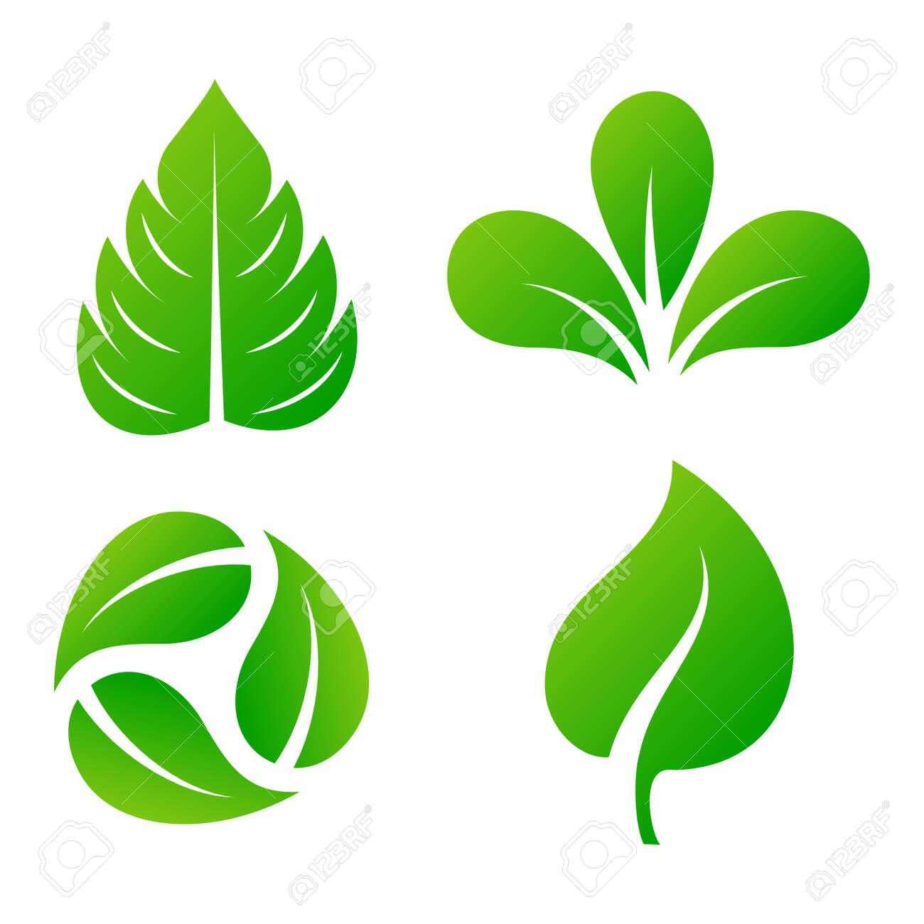 green leaf eco design element icon leaf icon vector illustration rh 123rf com leave vectors leaf vector image