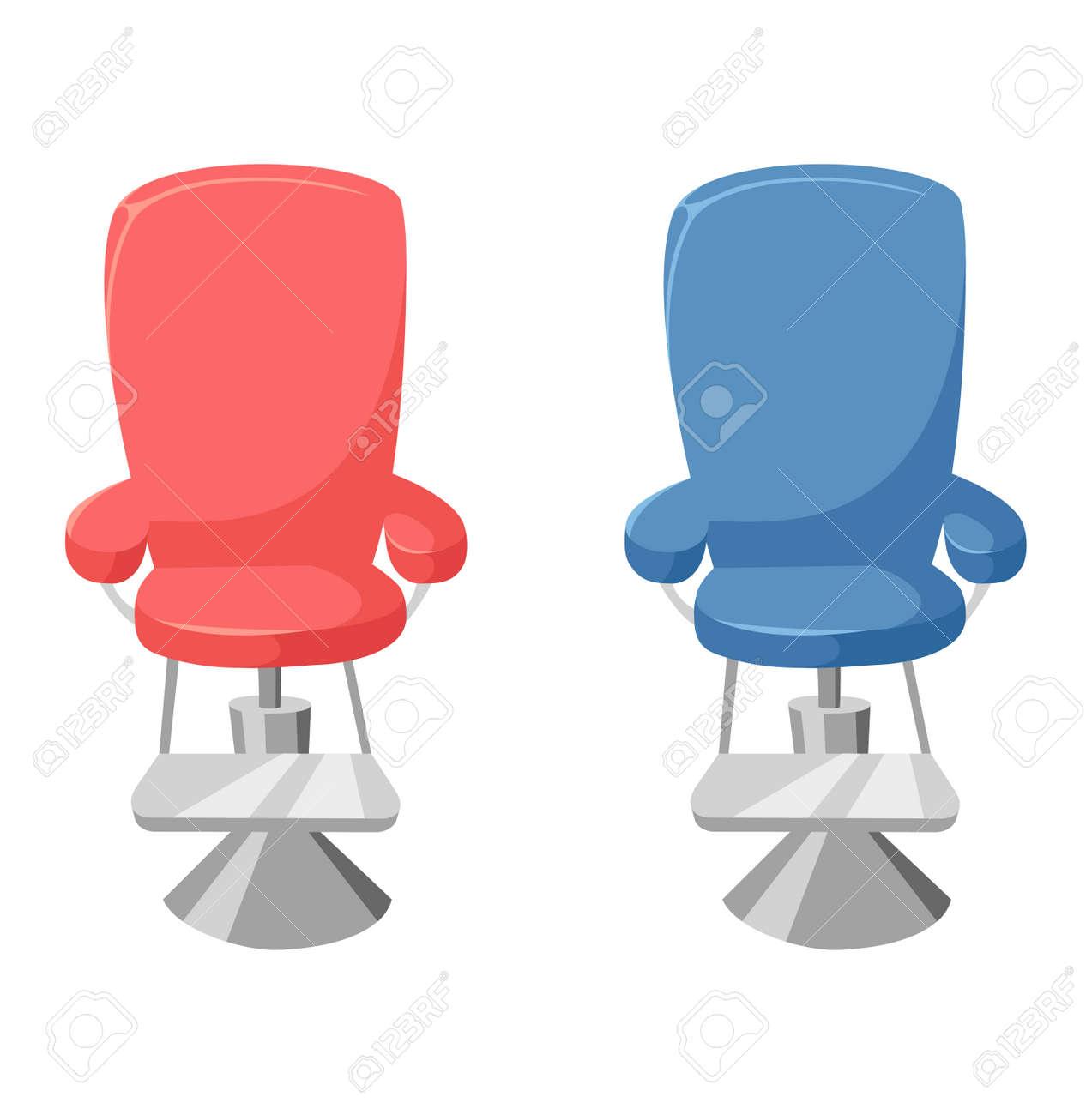 Vector Coiffeur Chaise Sur Fond Blanc Interieur Ancien
