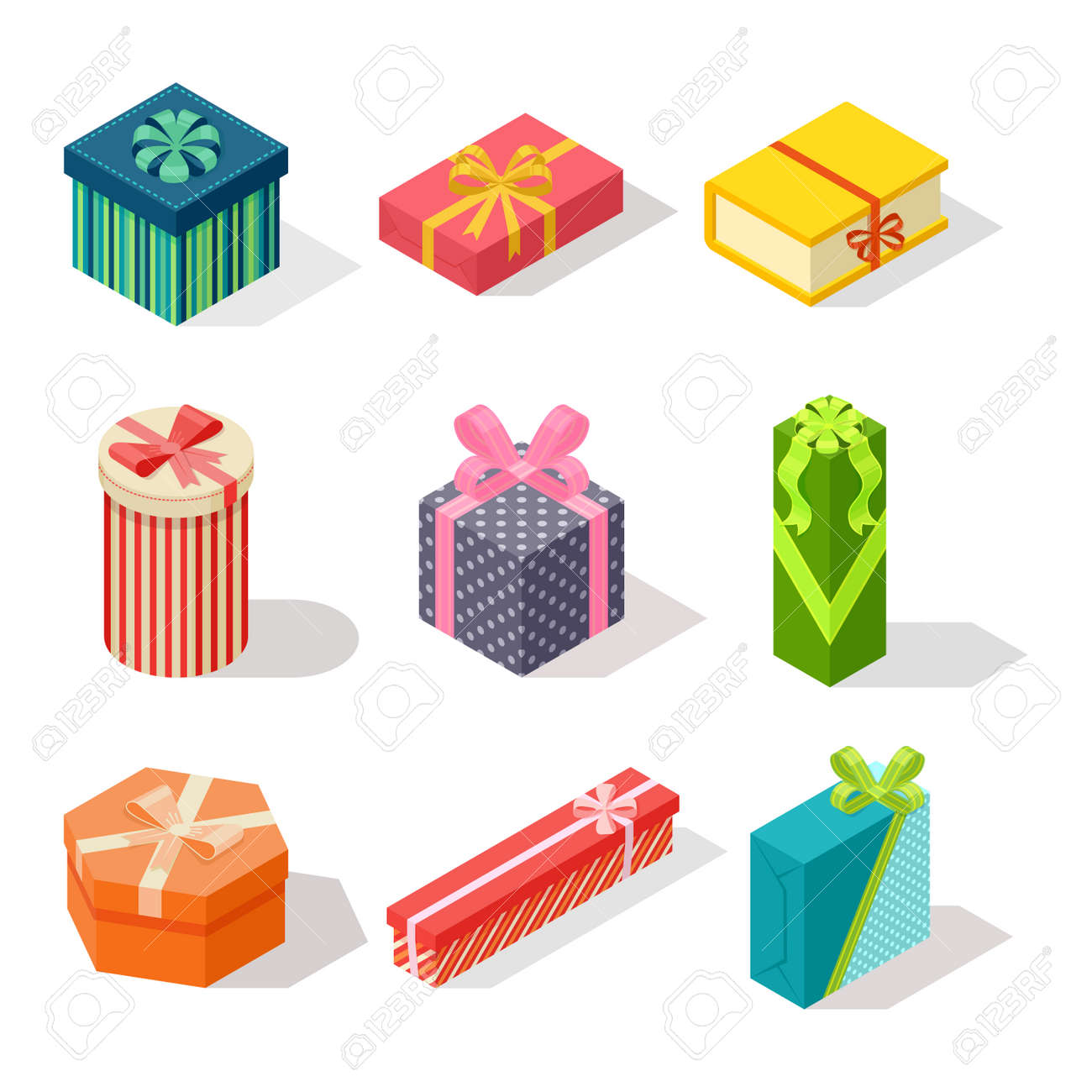 vector gift box isometric view cardboard container pack gift rh 123rf com gift vector ai gift vector ruban