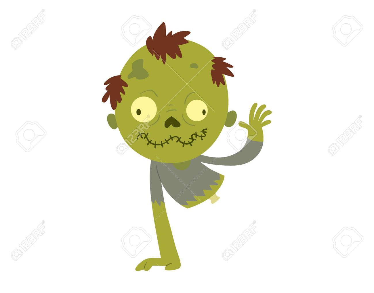 Bunte Zombie Unheimlich Cartoon-Figur Und Magie Menschen Körperteil ...