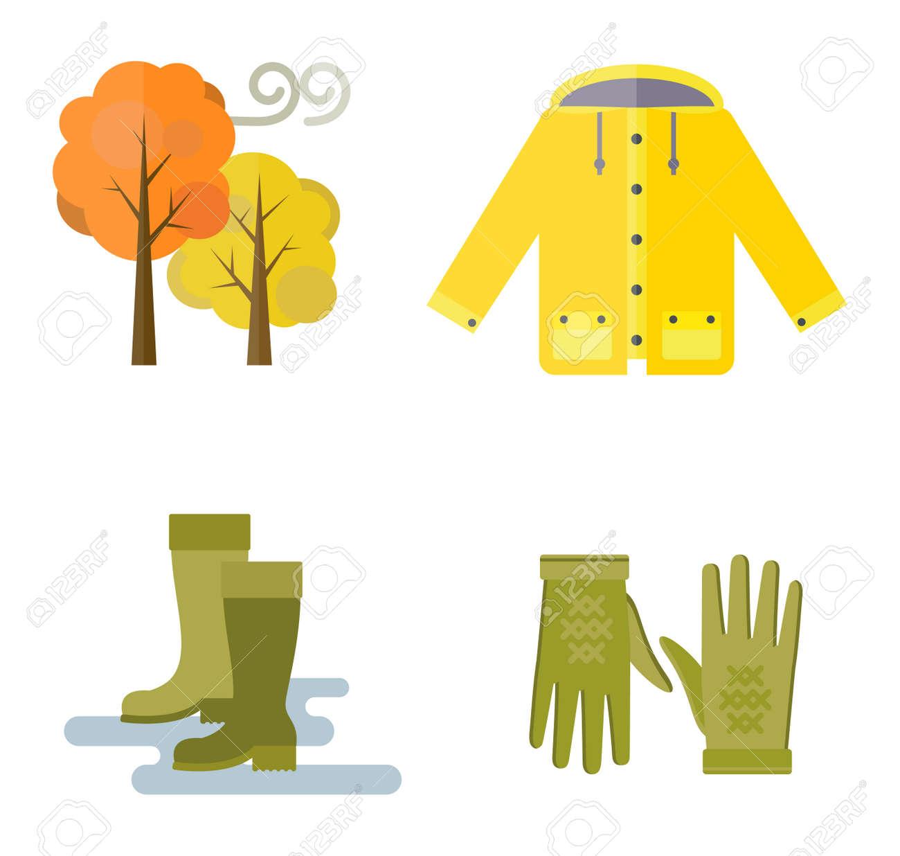 b5082d29d68c Collection of autumn clothes items. Clothes related to autumn and winter.  Clothes autumn