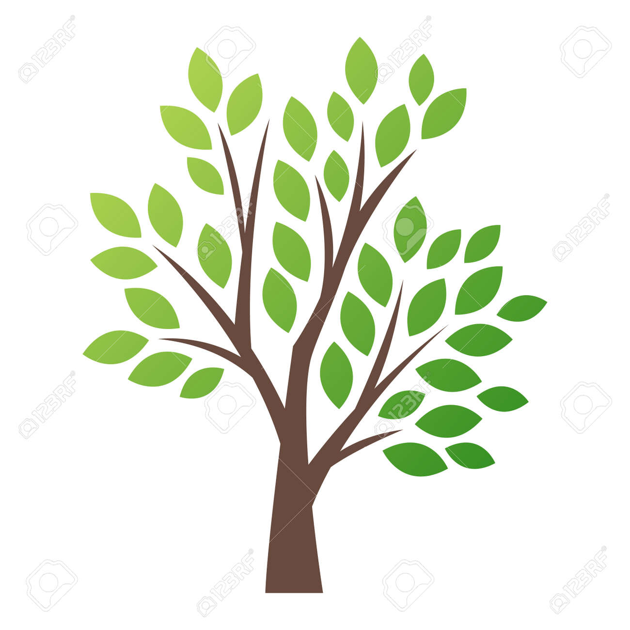 stylized vector tree logo icon vector tree flat silhouette isolated rh 123rf com vector tree silhouette vector tree of life