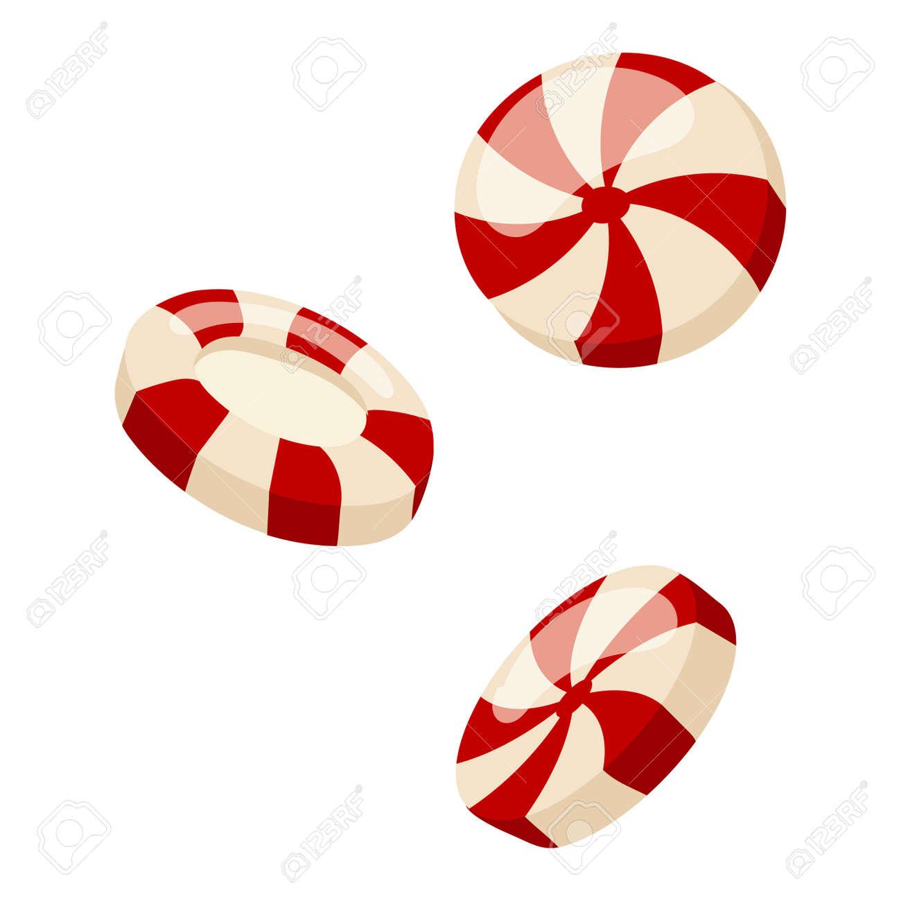 Lollipop süße Lebensmittel Vektor Illustration. Bunte Lutscher auf weißem  Vektor Illustration isoliert. Lollipop Kandiszucker süßen Bonbons. Lollipop  ...