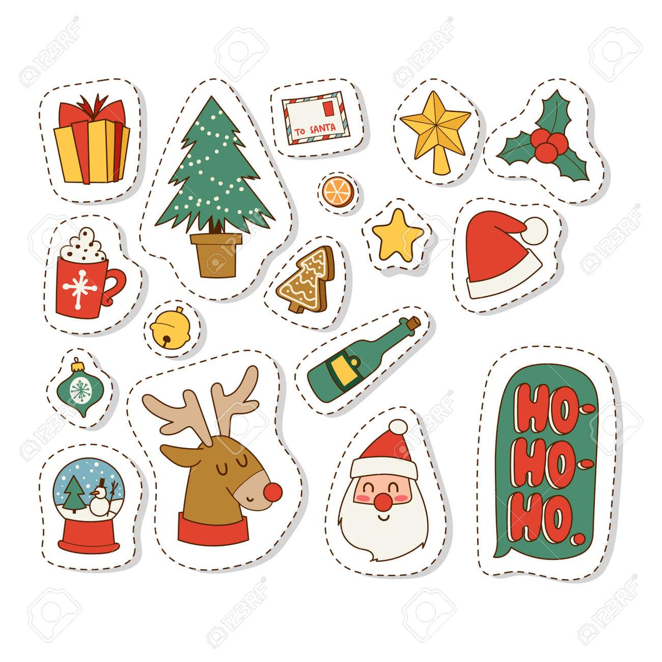Symbole De Noel Symboles D'icônes De Noël Pour Les Symboles De Carte De Voeux