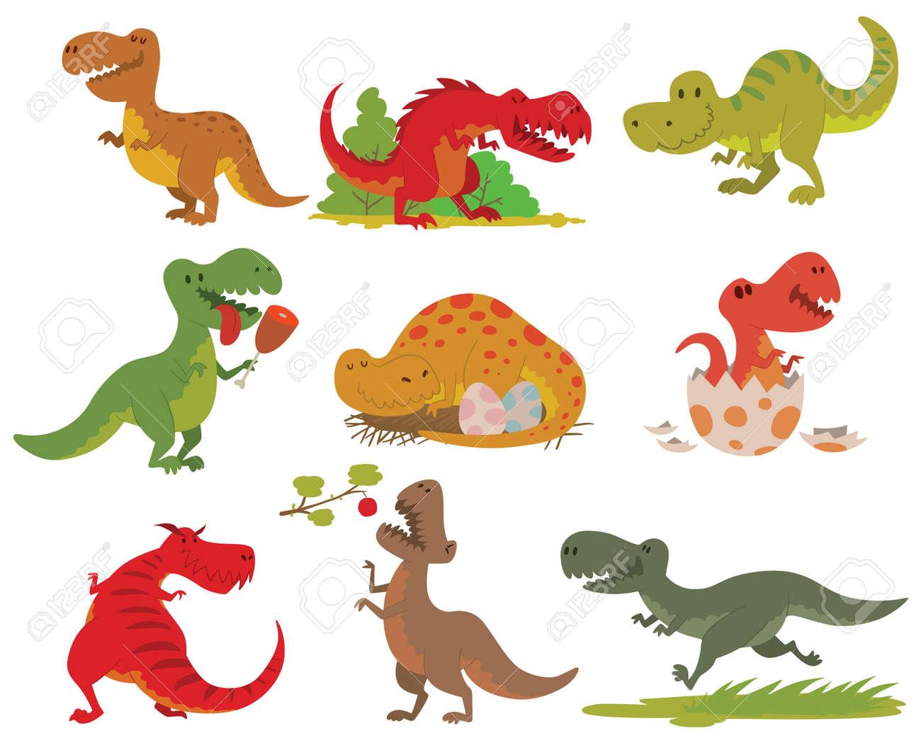 Dinosaurios Colección De Dibujos Animados T Rex Del Tyrannosaurus