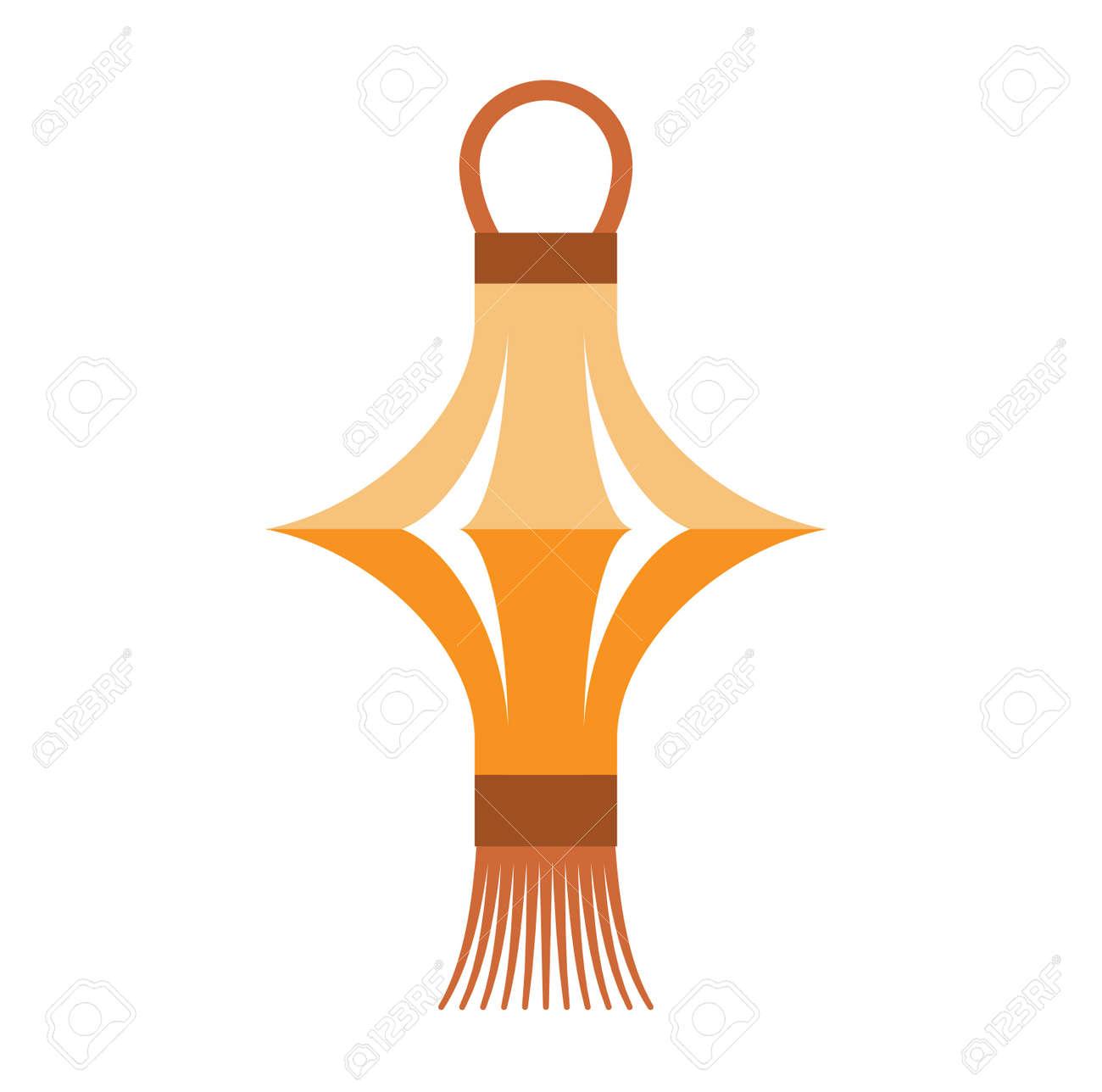 Lanterne Chinoise Isole Papier Vacances Celebrer Graphique Lanterne