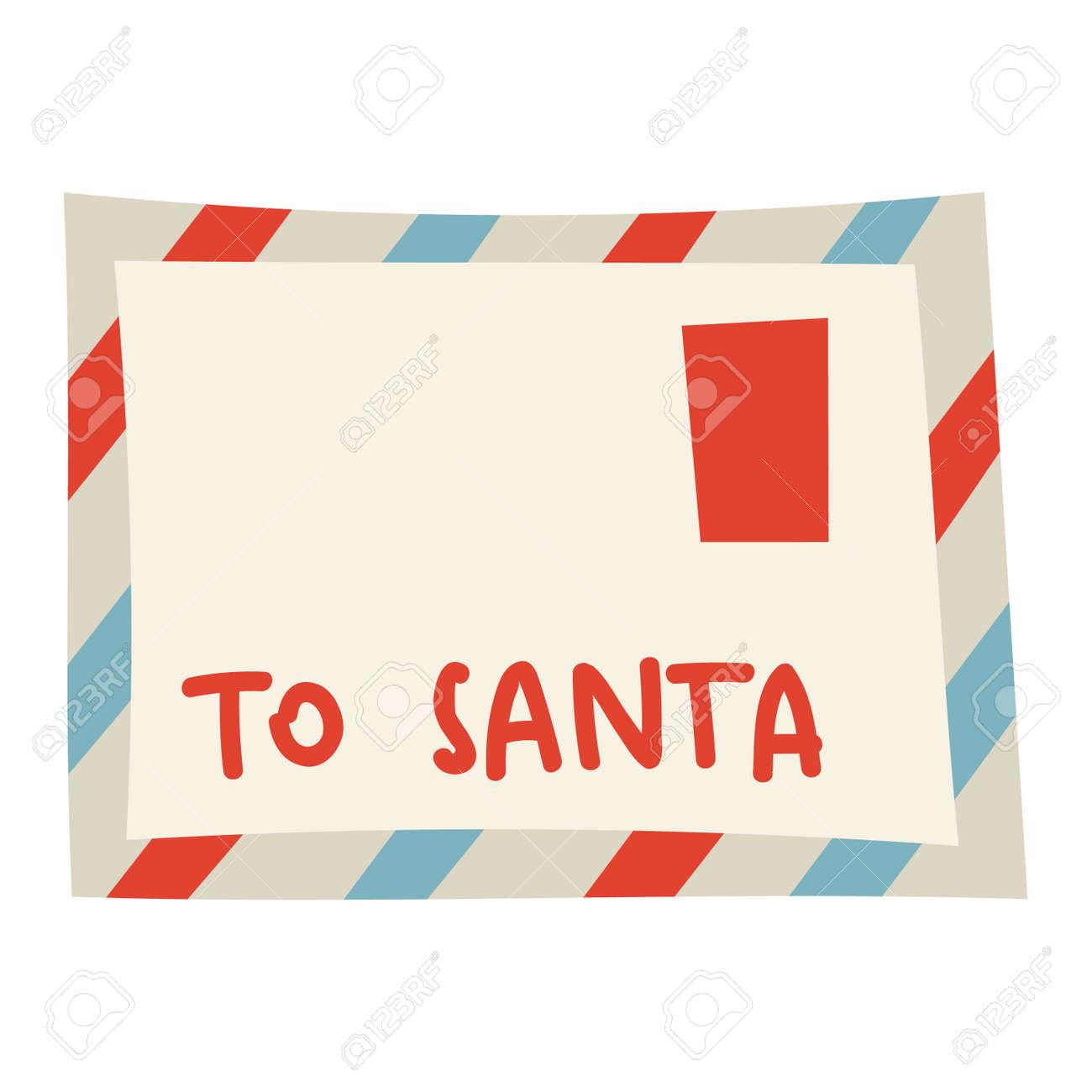 Lettre Electronique Au Pere Noel.Blank Christmas Defiler Carte Postale Pere Noel Cadeau De Voeux Electronique Isole Sur Fond Blanc Claus Papier Vecteur Voeux Cadeau Lettre Pere Pere