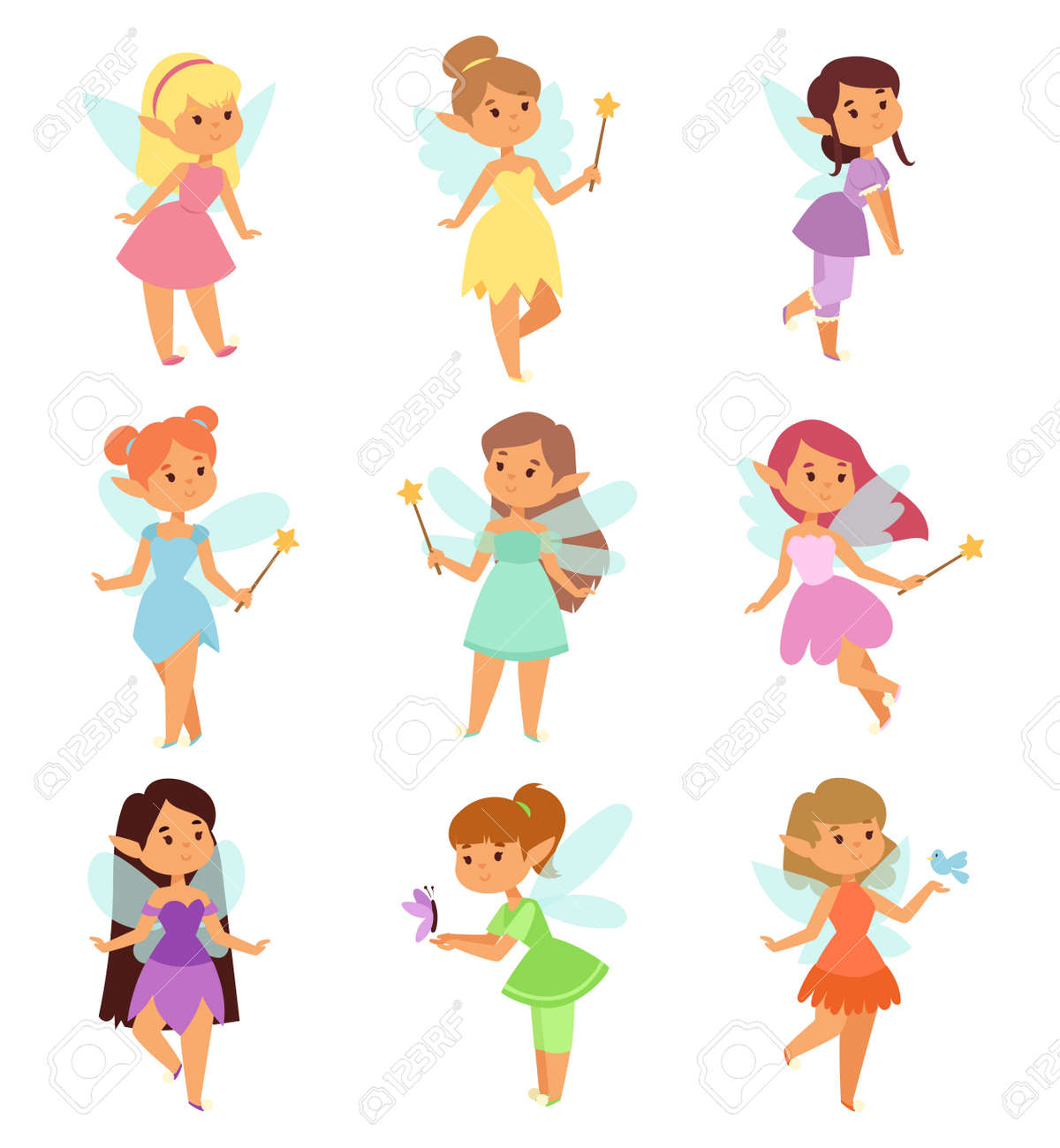 cute collection of beautiful princesses fairy vector character rh 123rf com ferry victoria to vancouver fairy victor ny