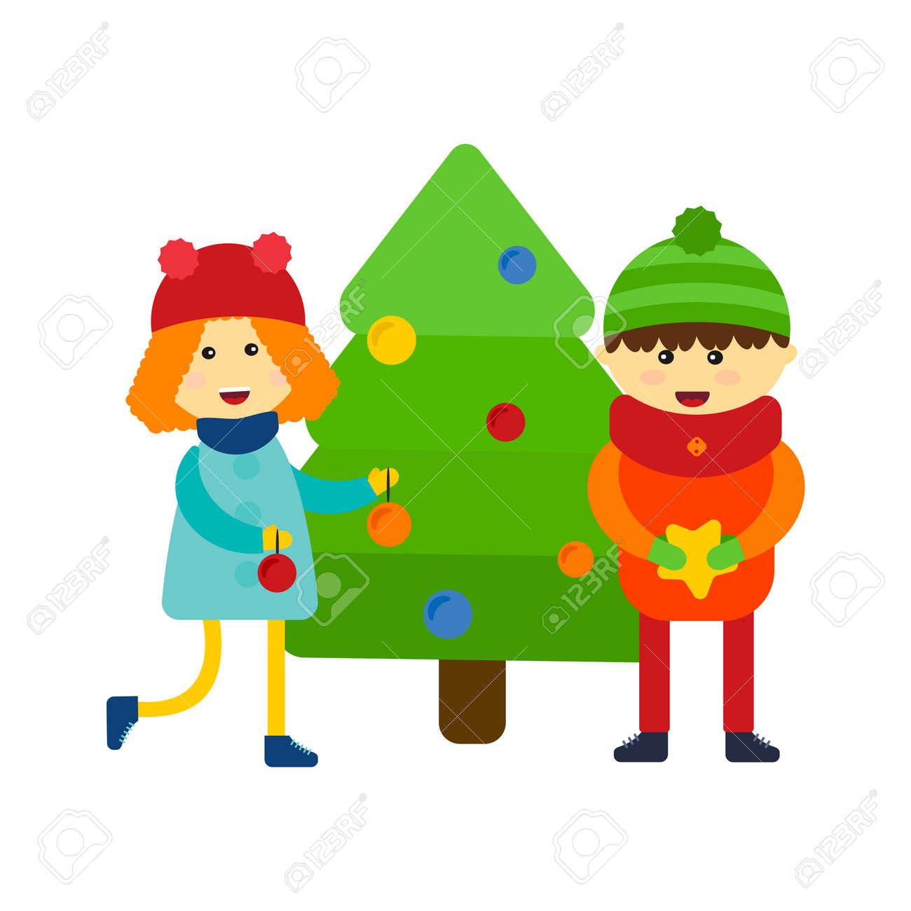Weihnachtsbaum Spiele.Stock Photo