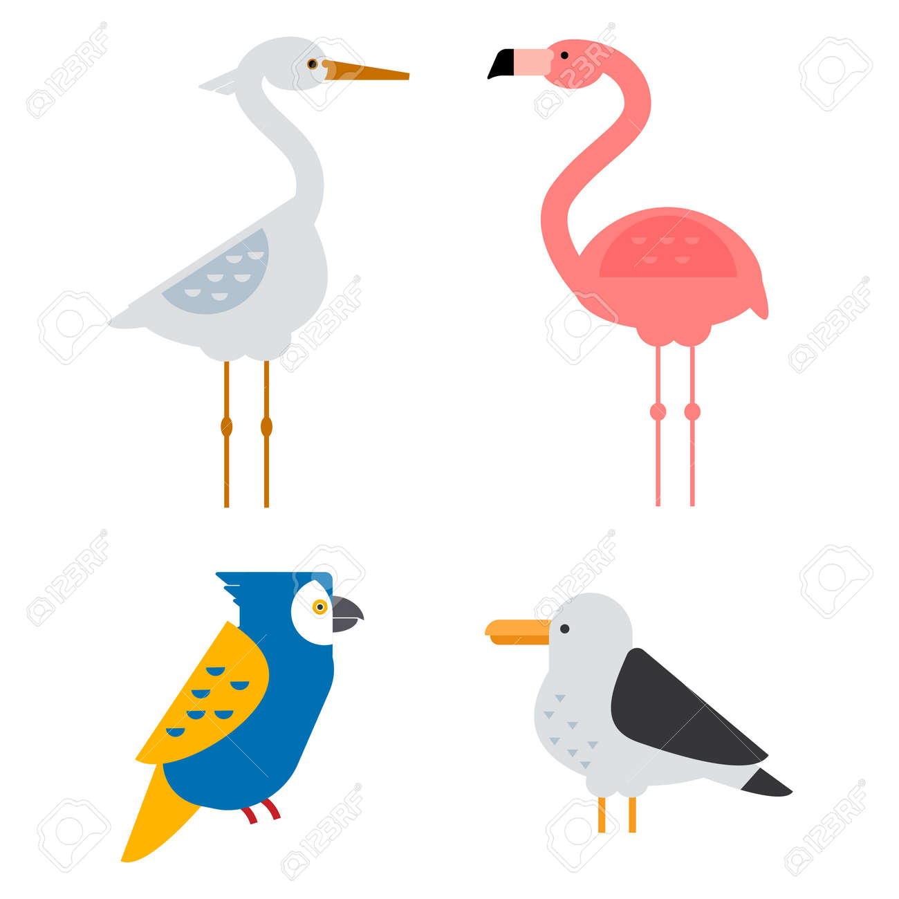 Set of sketches of flying swallows stock vector illustration - Birds Vector Set Colorful Wildlife Nature Collection Cartoon Wing Flying Animal Cute Drawing Silhouette