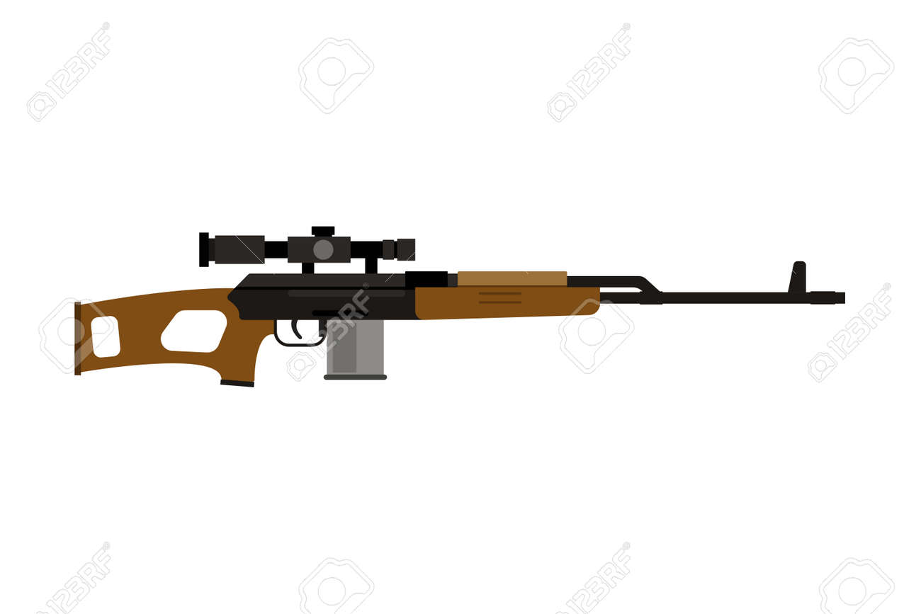 vector assault rifle icon royalty free cliparts vectors and stock rh 123rf com