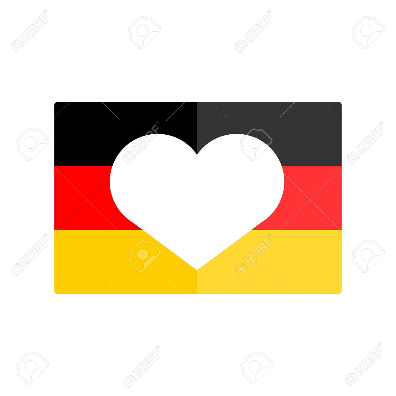 german flag national banner country vector illustration royalty