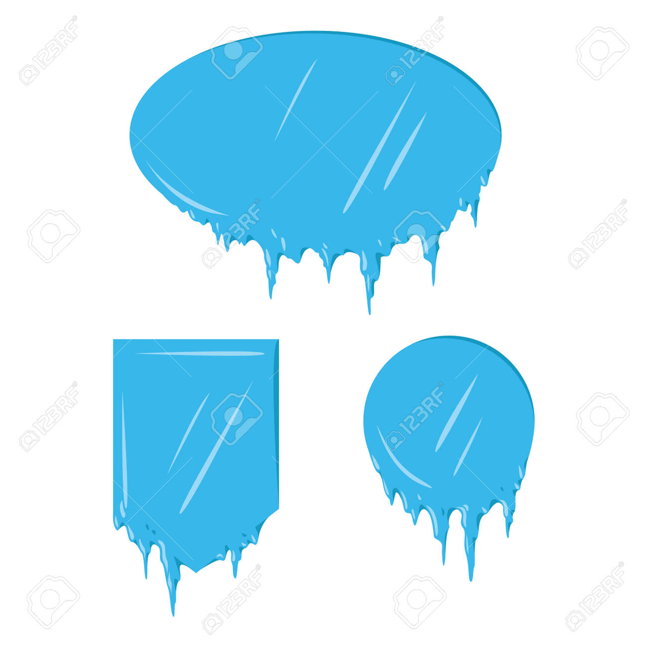 collection of frozen icicle snow winter vector banner royalty free rh 123rf com winter vector winter vector scene