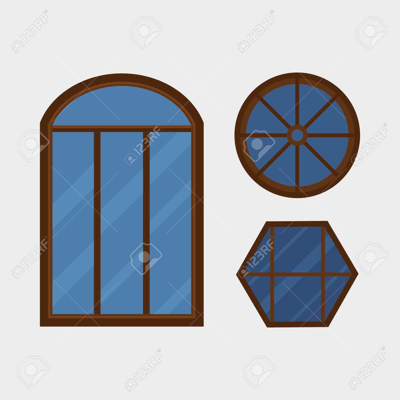 Type Of House Windows Element Isolated Flat Style Frame Domestic. Type Of House Windows Element Isolated Flat Style Frame Domestic Door Double Construction And Contemporary Decoration. Wiring. House Frame Diagram Doors At Scoala.co
