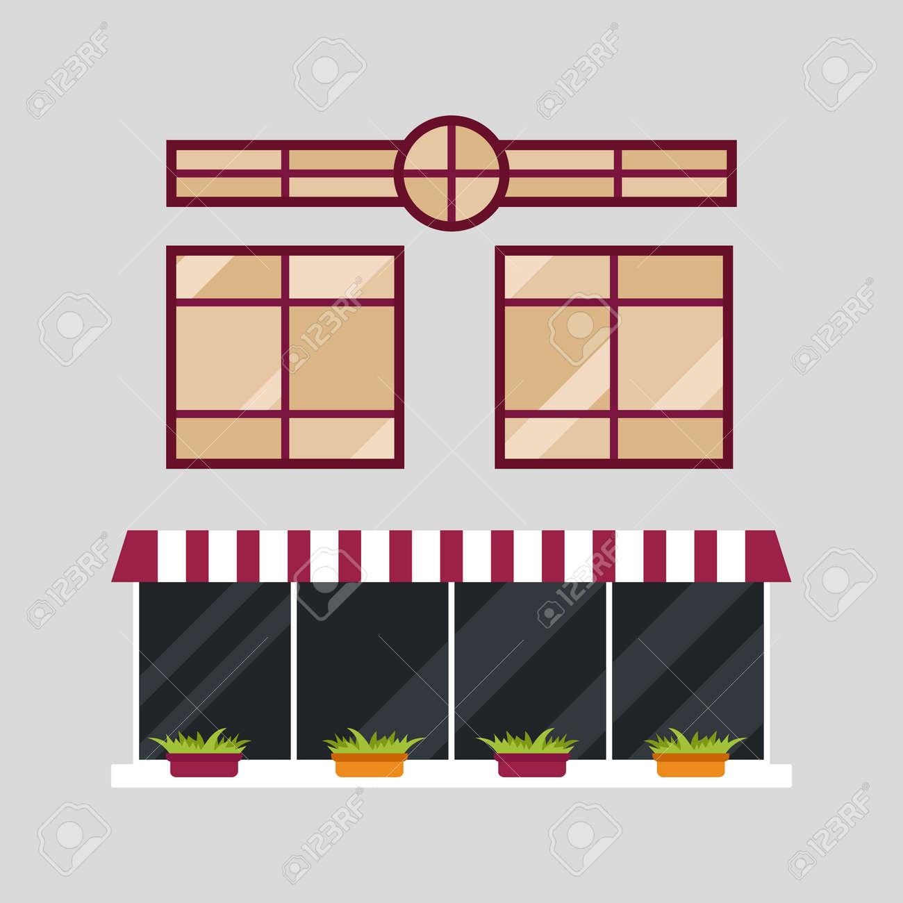 Verschiedene Typen Haus Fenster Elemente Isoliert Set Flache Stil ...