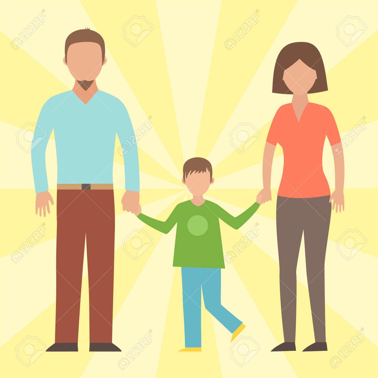 人々 幸せ家族漫画とライフ スタイルの関係文字はベクトル イラストです