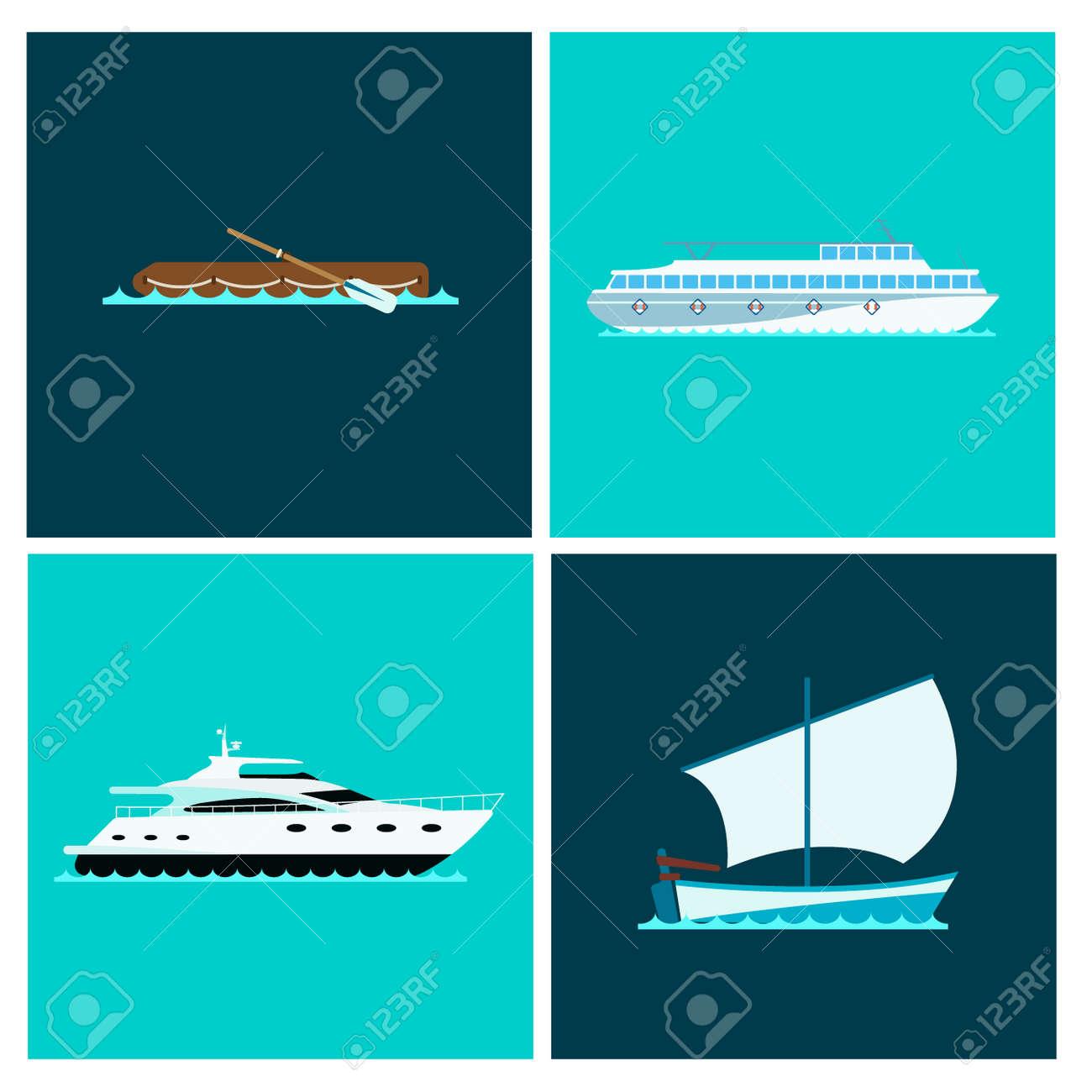 Ship Cruiser Boat Sea Brochure Vessel Travel Industry Vector - Cruise ship brochure