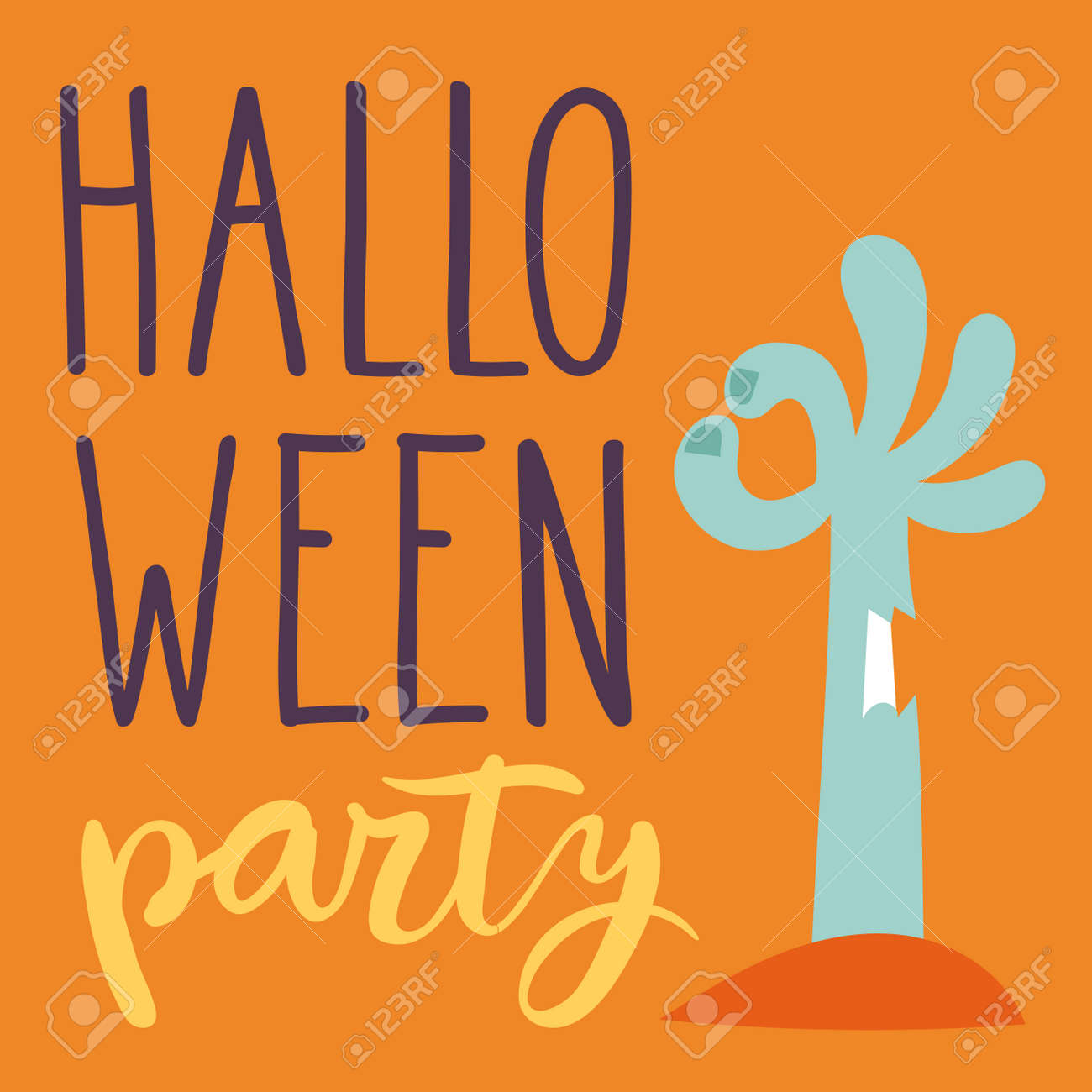Halloween Party Celebration Holiday Brochure Invitation Cards