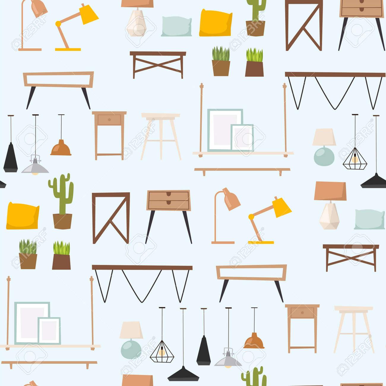 Furniture Room Interior Design Apartment Home Decor Concept Flat