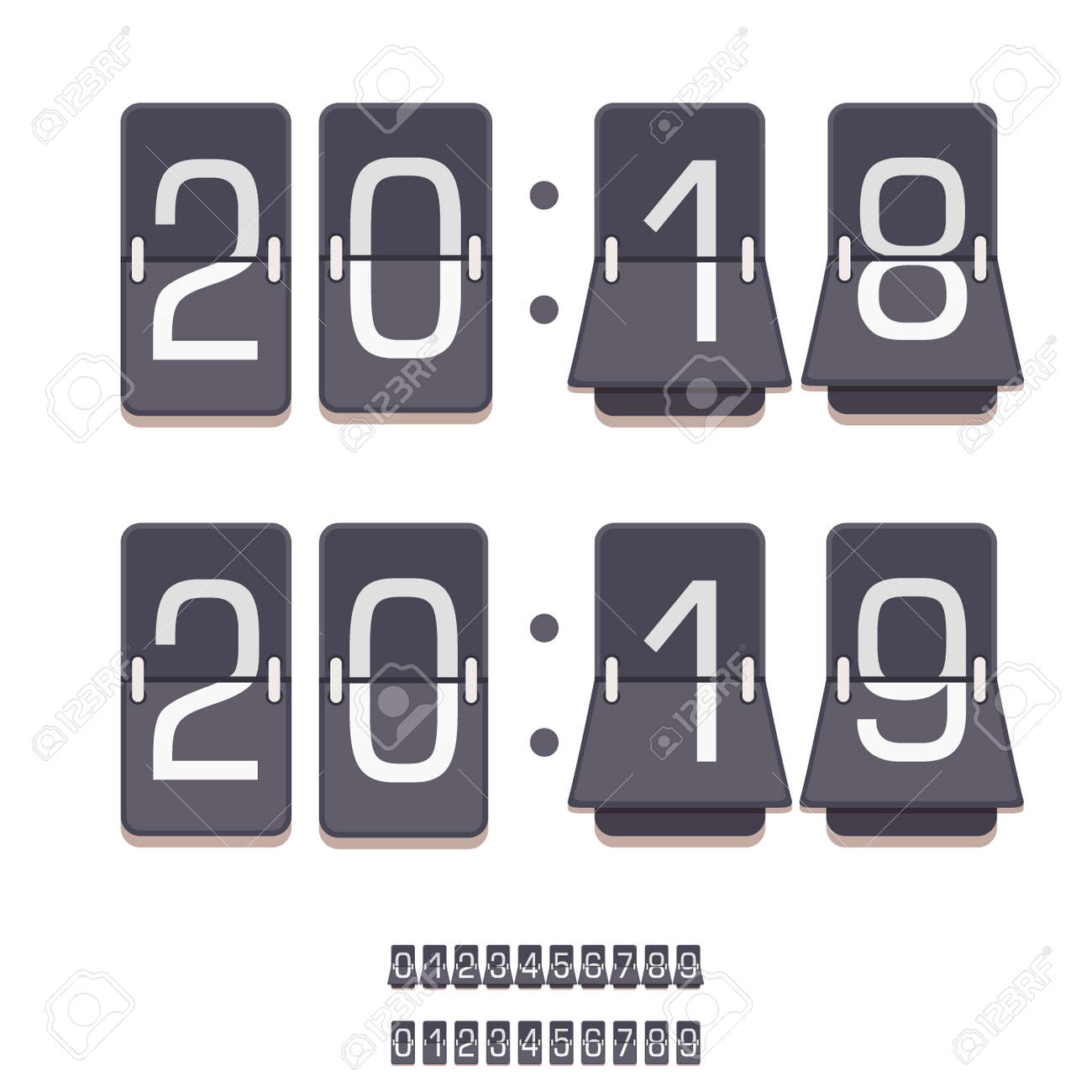 Timer clocks vector watch stopwatch countdown symbol hour illustration