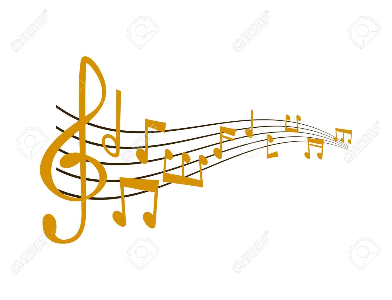 Notes music vector illustration - 96525939
