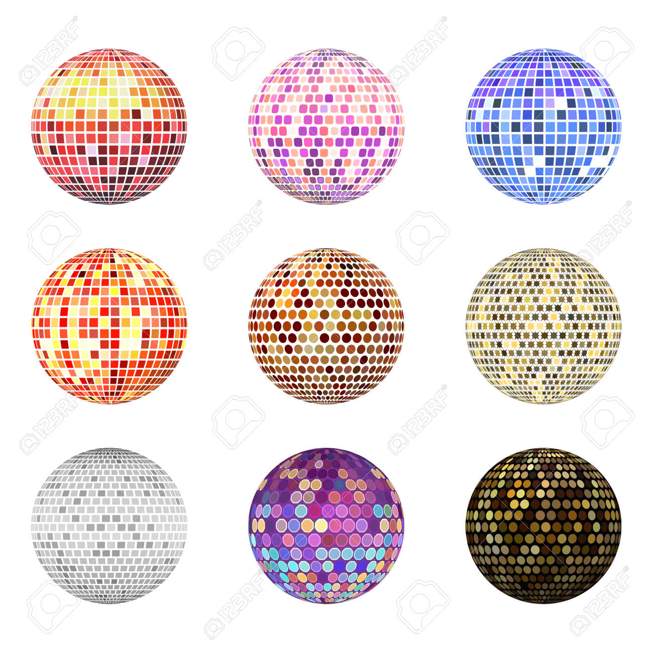Disco ball discotheque music party night club dance equipment vector illustration. - 99323596
