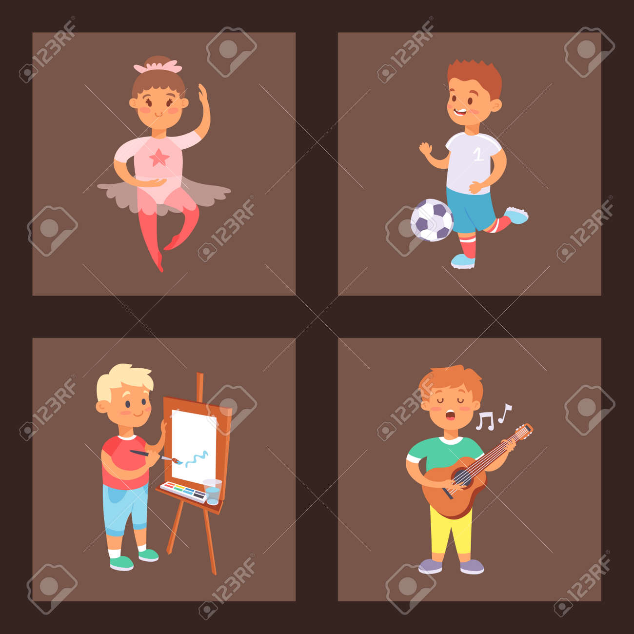 Why Are Kids Different At Home And At >> Children Playing Vector Different Types Of Home Games Little